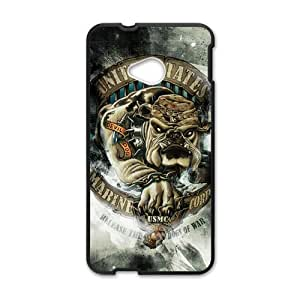 Happy United States Marine Corps Cell Phone Case for HTC One M7