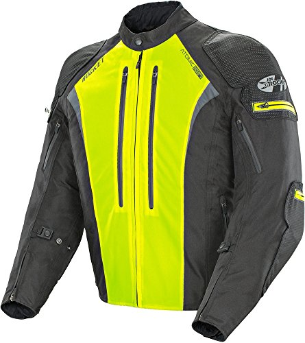 Joe Rocket Atomic Ion - Mens' Textile Motorcycle Jacket - Black/Hi-Vis Yellow - Large