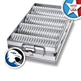 Chicago Metallic Bakeware Glazed 4-Loaf Crimped Crust Bread Pan