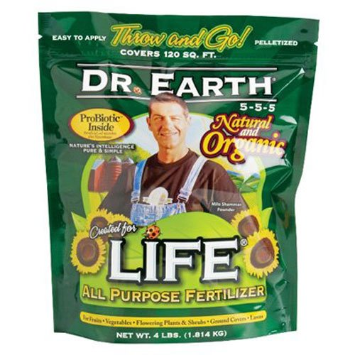 Dr. Earth 736P Life Organic All Purpose Fertilizer In Poly Bag, 4-Pound ()
