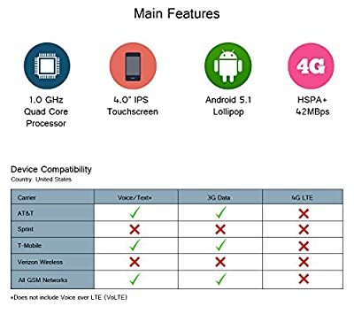 FIGO Virtue 4.0 - Unlocked Dual Sim Smartphone - US GSM
