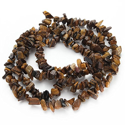 Gemstone 4-8mm Chip Beads 32'' - 35'' Tiger's Eye Hematite Turquoise Malachite Coral 1 Strand for Bracelet Necklace Earrings Jewelry Making Crafts Design Healing ()