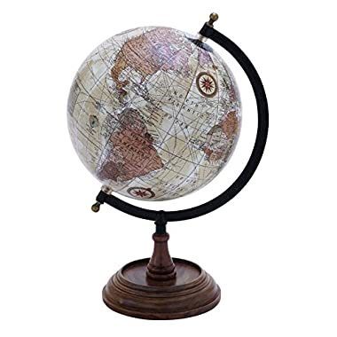Benzara Globe with Metal and Wooden Details