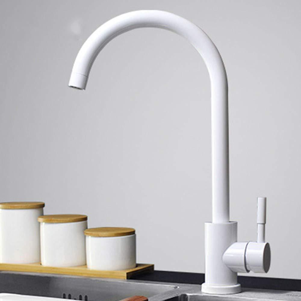 Joeyhome Küchenarmatur 304 Edelstahl-Schwenker-Hahn 360 Grad-Drehungs-Hahn-einzelnen Handgriff-Einlochmontage-Hahn-Mischer Y40084