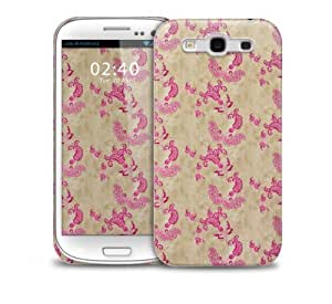 Cream Pink Floral Samsung Galaxy S3 GS3 protective phone case