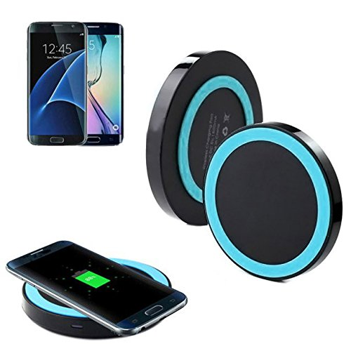 Fast Charging For Samsung Galaxy S7/S7 Edge,Qi-Wireless Power Charger Charging Pad (Blue1)