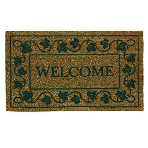 Bacova Guild Koko Door Mat, Flocked Ivy Vine Welcome, 30