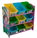 Nickelodeon Dora the Explorer 9 Bin Toy Organizer