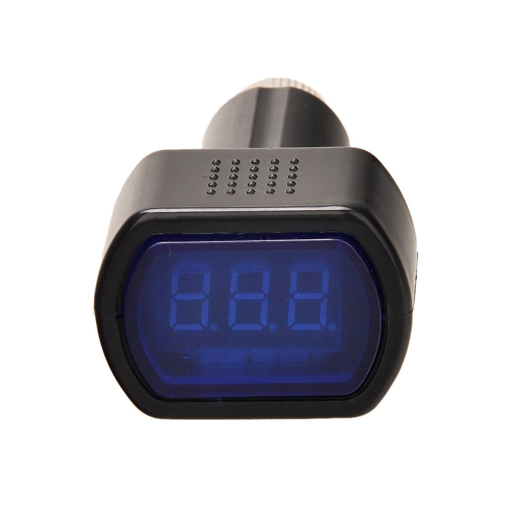 12-24V LED Display Universal DC Ladegerä t Auto KFZ Batterietester Spannungsanzeige Voltmeter Spannungsmesser mit LED Anzeige Amaz*de