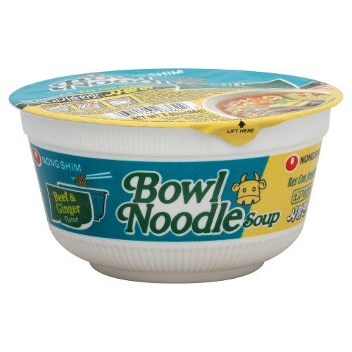 Instant Noodle Soup Bowl (Beef & Ginger) - 3.03oz (Pack of 12)