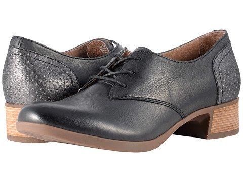 東部絶妙一般的な(ダンスコ) Dansko レディースレースアップ?オックスフォード?靴 Louise Black Burnished Nappa US Women's 10.5-11 25.5-26cm Regular [並行輸入品]