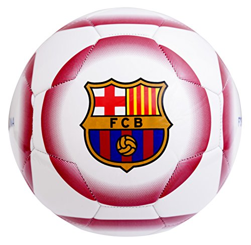 Barcelona Fc Boy 26 Panel Crest Football, White, Size 5