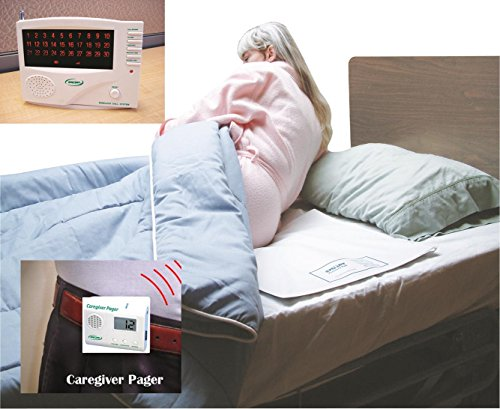 Cordless/Wireless Bed Alarm System with Pager - 20