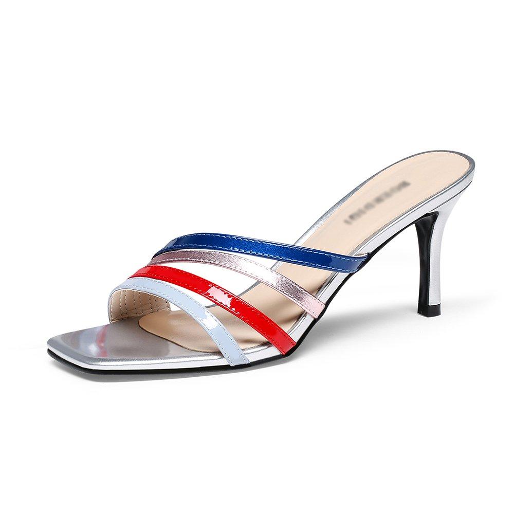 GYHDDP Sandalias para Mujer de Tacón bajo, Sandalias de Tacón Alto \ Sandalias de Tacón Alto \ Zapatillas de Moda de Verano 36 EU|A
