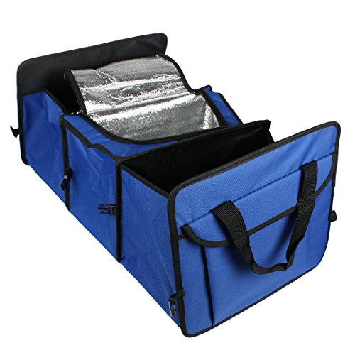 Foldable 3-Compartment Auto Car Trunk Organizer With Cooling and ()