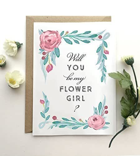 amazon com will you be my flower girl card rustic floral