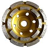 "4"" PREMIUM Grade Double Row Concrete Diamond Grinding Cup Wheel"