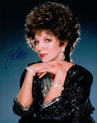 Joan Collins Signed Autographed 8X10 Photo Dynasty Sexy Gorgeous w/ JSA from Cardboard Legends Online