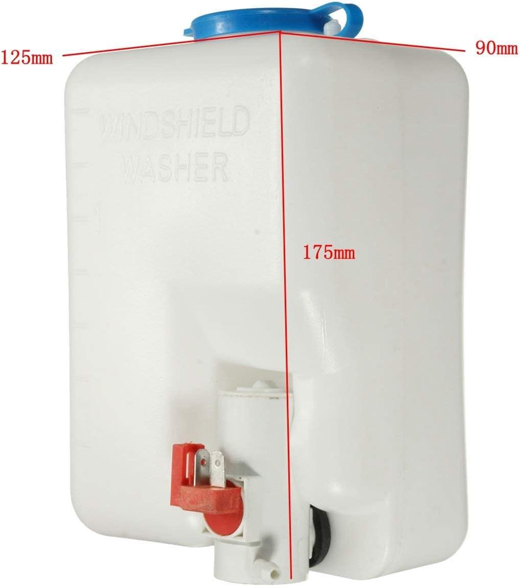 outil propre et facile /à utiliser interrupteur /à jet Kit de bouteille de pompe de r/éservoir de lave-glace de voiture classique universel de 12V Togames-FR blanc