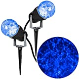 Gemmy 35955 Lightshow Icy Blue Kaleidoscope Projection Combo Pack