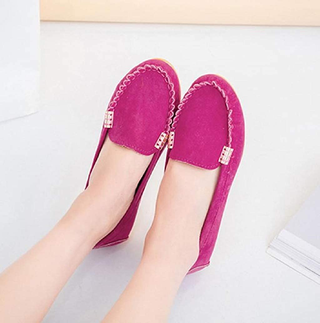 Nevera Women Slip On House Moccasin Slippers Loafers Shoes Suede Breathable Closed Back Slippers Indoor Outdoor