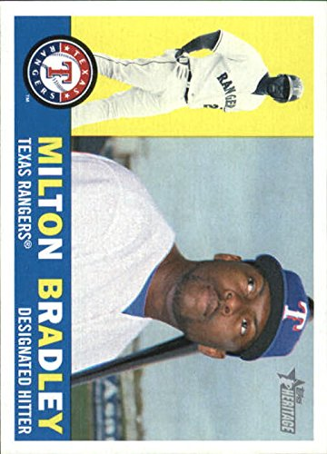 2009 Topps Heritage Baseball #338 Milton Bradley Texas Rangers