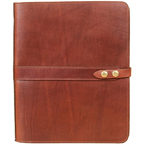 Leather Business Double Portfolio Notebook Writing Notepads Brown USA Made No.36 by Col. Littleton