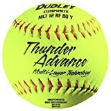 Dudley Thunder Advance 12' Slow Pitch Softball - Composite Cover - Pack of 12