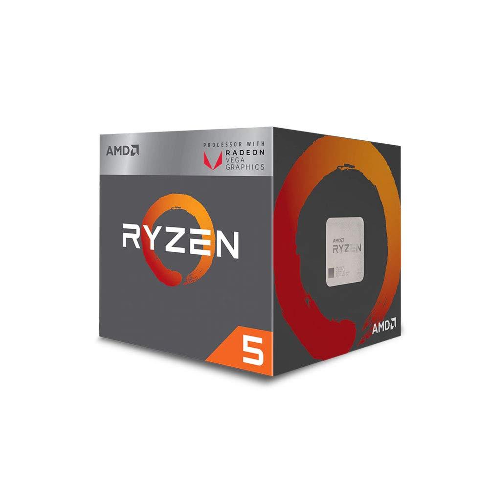 AMD Ryzen 5 3400G 4-core, 8-Thread Unlocked Desktop Processor with Radeon RX Graphics by AMD