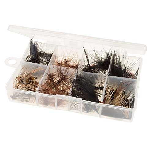 Wakeman 80-FSH5034 Fly Fishing Lures- 50Piece Natural Assorted Dry Insect Flies, Fishing Equipment for Catch & Release in Organizer Tool Box By Wakeman Outdoors