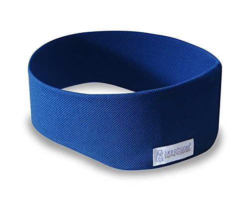 AcousticSheep SleepPhones Wireless | Bluetooth Headphones for Sleep, Travel & More Flat Speakers | Royal Blue - Breeze Fabric (Size S) by SleepPhones (Image #2)