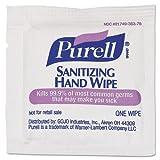 PURELL Sanitizing Hand Wipes, 5 x 7, White, Individually Wrapped - Includes 4,000 individually wrapped wipes.