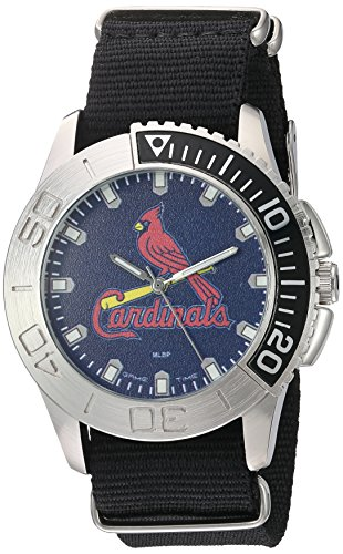 Game Time Men's 'Starter'  Metal and Nylon Quartz Analog  Watch, Color:Black (Model: MLB-STA-STL)
