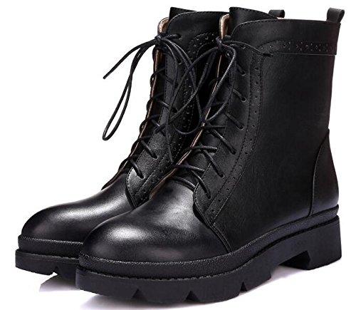 Laruise Women's Leather Boot Black G5lHFc1a9v