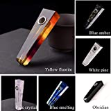 1pc Natural Quartz Crystal Stone Healing Crystal Fluorite Point Wand Craft with Filters