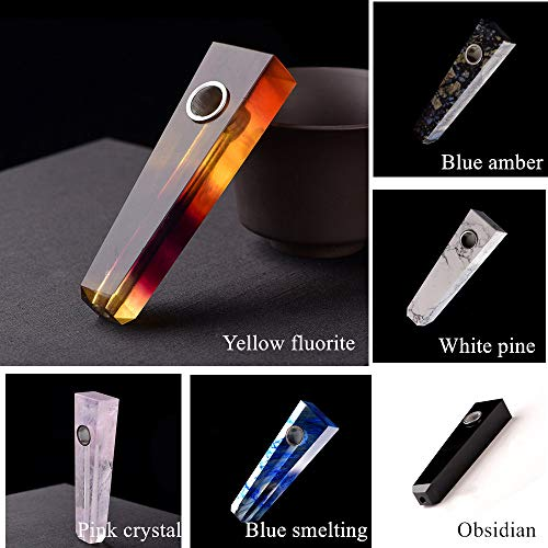 - 1pc Natural Quartz Crystal Stone Healing Crystal Fluorite Point Wand Craft with Filters