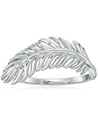 Sterling Silver Feather Ring, Size 7