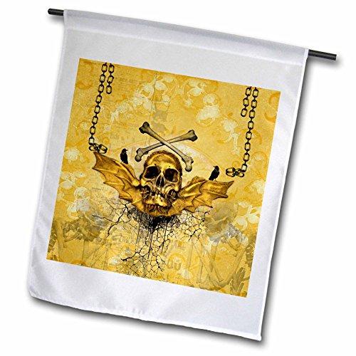 3dRose Heike Köhnen Design Skull - Amazing skull in golde...