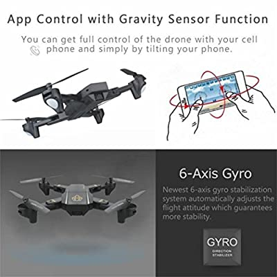 Quadcopter Drone With HD Camera RTF GPS 4 Channel 2.4GHz 6-Gyro With Altitude Hold Function,Headless Mode and One Key Return Home from QingFan