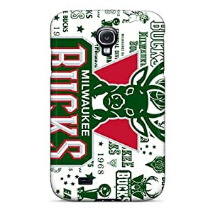 New Snap-on Rewens Skin Case Cover Compatible With Galaxy S4- Milwaukee Bucks
