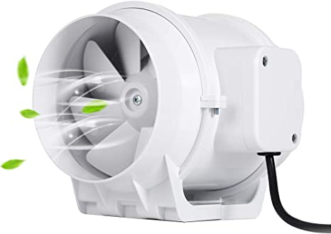 Hon&Guan Extractor Ventilador de Aire en Línea Super Ligero y ...