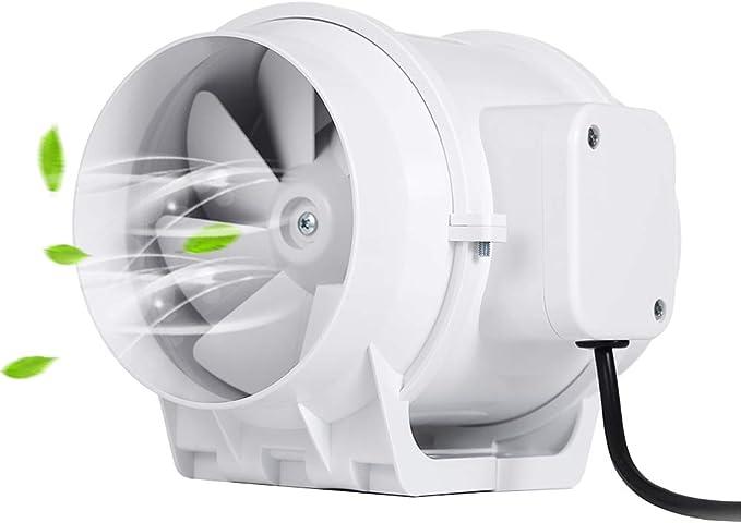"leiser Kanalventilator Inline-Abluftventilator Rohrventilator Badezimmer-Abluftventilator 6 /""// 5/"" 4/"" 100mm 4 /"" Winbang Abluftventilator"