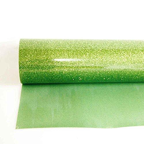 HOHO HTV Heat Transfer Press Vinyl Sparkle Glitter Iron-on Paper Sheet Garment Film Light Green 20