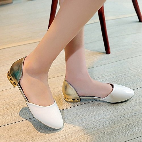 Show Shine Damesmode Assortiment Kleuren Loafers Schoenen Wit