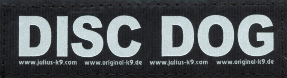 Disco de perro - 2 pequeños etiquetas de velcro (3 x 11 cm ...