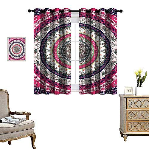 b67917880 fengruihome Kids Curtains Heat Blocking Curtains for Living Room Bedroom  Tribal Nepal Bohemian Hippie Hippy