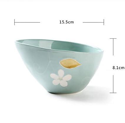 FAFZ Tazón de Cereales, tazón de Ramen Cuenco de Ensalada de cerámica Cuenco de Postre