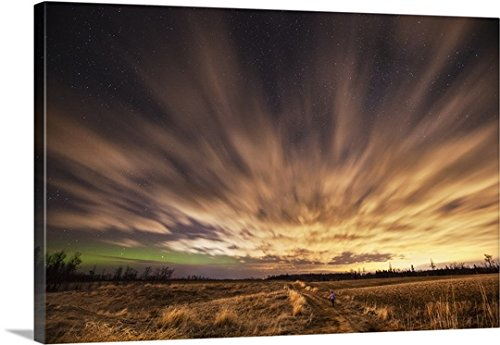 Gallery Wrapped Canvas Entitled Night Sky With Aurora Borealis  Thunder Bay  Ontario  Canada By Susan Dykstra 30 X20