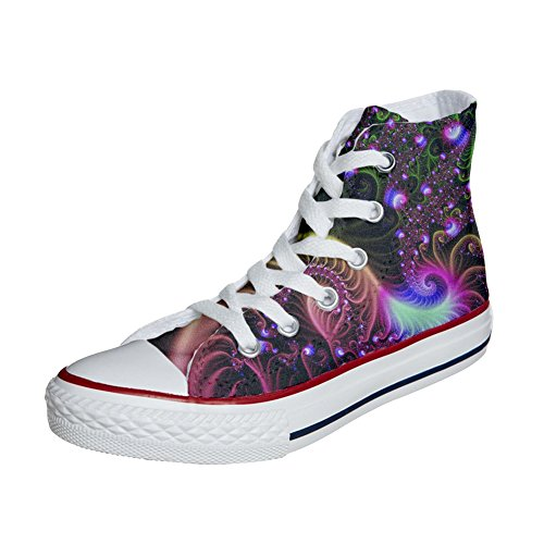 mys Converse Customized Adulte - Chaussures Coutume (Produit Artisanal) Disco Fantasy yCjrFr