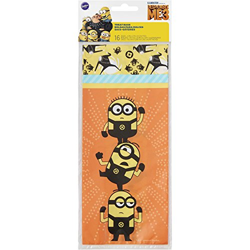 Wilton 1912-7114 16 Count Despicable Me 3 Minions Treat Bags, Assorted]()